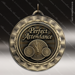 Medallion 360 Spin Series Scholastic Perfect Attendance Medal School Scholastic Medals