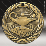 Medallion Iron Series Scholastic Lamp Of Knowledge Medal School Scholastic Medals