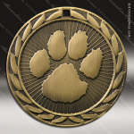 Medallion Iron Series Scholastic Mascot Pawprint Medal School Scholastic Medals