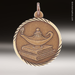 Medallion Sunray Series Scholastic Lamp of Knowledge Medal School Scholastic Medals