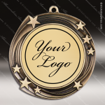 Medallion Semi Custom Series Medal - Swirling Star Insert Your Logo Semi Custom Medallion Medals