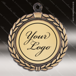 Medallion Semi Custom Series Medal - Wreath Insert Your Logo Semi Custom Medallion Medals