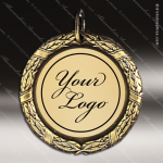 Medallion Semi Custom Series Medal - Wreath 1 Insert Your Logo Semi Custom Medallion Medals