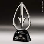 Artistic Silver Accented Chrome Paramount Trophy Award Silver Accented Artisitc Awards