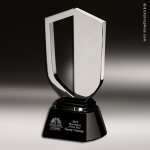 Artistic Silver Accented Chrome Stratford Trophy Award Silver Accented Artisitc Awards