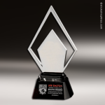 Artistic Silver Accented Chrome Winston Trophy Award Silver Accented Artisitc Awards