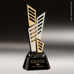 Artistic Silver Accented Chrome Eclipse Trophy Award Silver Accented Artisitc Awards