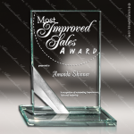 Glass Silver Accented Rectangle Random Radiance Trophy Award Silver Accented Glass Awards