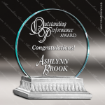 Glass Silver Accented Circle Amity Alchemy Trophy Award Silver Accented Glass Awards