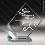 Glass Silver Accented Diamond Fixation Trophy Award Silver Accented Glass Awards
