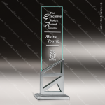 Glass Silver Accented Rectangle Stages Trophy Award Silver Accented Glass Awards