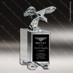 Crystal  Mighty Eagle Trophy Award Silver & Chorme Accented Crystal Awards