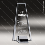 Crystal Silver Accented Uprising Sail Trophy Award Silver & Chorme Accented Crystal Awards