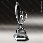Crystal Silver Accented Lightning Trophy Award Silver & Chorme Accented Crystal Awards