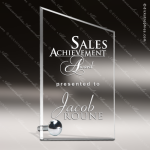 Crystal Silver Accented Stathold Sail Trophy Award Silver & Chorme Accented Crystal Awards