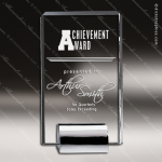 Crystal Silver Accented Champion Rectangle Trophy Award Silver & Chorme Accented Crystal Awards