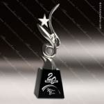 Crystal Silver Accented Star Glory Trophy Award Silver & Chorme Accented Crystal Awards