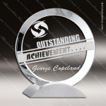 Crystal  Clear Contemporary Trophy Award Silver & Chorme Accented Crystal Awards