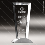Crystal Silver Accented Exceeding Vision Trophy Award Silver & Chorme Accented Crystal Awards