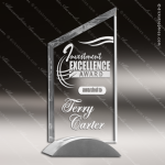 Crystal Silver Accented Sail Trophy Award Silver & Chorme Accented Crystal Awards