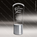 Crystal Silver Accented Empire Trophy Award Silver & Chorme Accented Crystal Awards