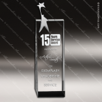 Crystal Silver  Accented Super Star Man Tower Trophy Award Silver & Chorme Accented Crystal Awards