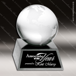 Crystal Silver Accented Ocean Globe Aluminum Base Trophy Award Silver & Chorme Accented Crystal Awards