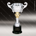 Cup Trophy Economy Silver Series Gold Trimmed Loving Cup Award Silver Cup Trophy Awards