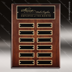 The Mercarda Walnut Perpetual Plaque  12 Black Plates Small Perpetual Plaques - 4-20 Plates