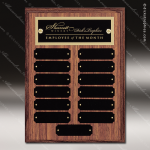 The Morvillo Laminate Walnut Perpetual Plaque  13 Black Plates Small Perpetual Plaques - 4-20 Plates