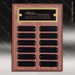 The Morvillo Laminate Walnut Perpetual Plaque  12 Black Plates Small Perpetual Plaques - 4-20 Plates