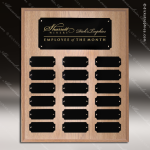 The Joffrion Laminated Oak Perpetual Plaque  18 Black Plates Small Perpetual Plaques - 4-20 Plates