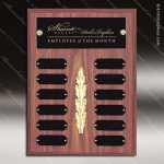 The Morvay Laminate Walnut Perpetual Plaque  12 Black Plates Small Perpetual Plaques - 4-20 Plates