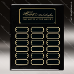 The Jacques Black Piano Finish Perpetual Plaque  18 Black Plates Small Perpetual Plaques - 4-20 Plates