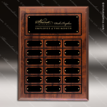 The Jahnsen Laminated Cherry Perpetual Plaque  18 Black Border Plates Small Perpetual Plaques - 4-20 Plates