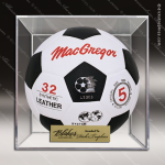 Engraved Clear Acrylic Basketball | Soccer Ball Display Case Soccer Display Case