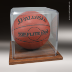 Clear Acrylic Basketball | Soccer Ball Display Case Soccer Display Case