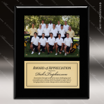 Engraved Black Piano Finish Plaque Insert Photograph Soccer Plaques