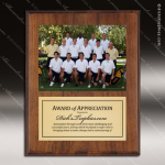 Engraved Walnut Finish Plaque Insert Photograph Soccer Plaques
