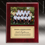 Engraved  Rosewood Piano Finish Plaque Insert Photograph Soccer Plaques