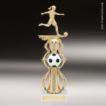 Trophy Builder - Soccer Riser - Example 3 Soccer Trophies