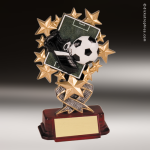 Resin Starburst Series Soccer Trophy Award Soccer Trophies