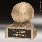 Kids Resin Gold Series Soccer Ball Trophy Awards Soccer Trophies