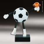 Resin Soft Sports Buddy Series Soccer Trophy Award Soccer Trophies