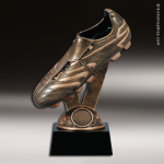 Premium Resin Bronze Sports Theme Soccer Cleat Trophy Award Soccer Trophies