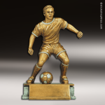 Kids Resin Antique Gold Series Soccer Male Trophies Awards Soccer Trophies