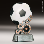 Resin Swirl Series Soccer Trophy Award Soccer Trophies
