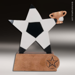 Resin Color Sports Star Series Soccer Trophy Award Soccer Trophies