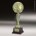 Champion Metal Large Gold & Silver Soccer Ball Trophy Award Soccer Trophies