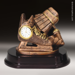 Desk Gift Premium Resin Bronze Series Hockey Clock Award Soccer Trophies